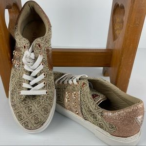 GUESS Stunning Gold Sneakers - Size 39 -Worn Once